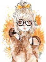 Sunflower girl by cherriuki