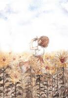 Sunflower Dreamer by cherriuki
