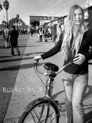 Ms Blond and her Bike Blk by brittymon37