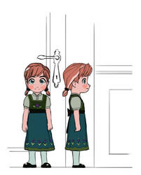 Frozen - Young Anna - Character Sheet by uxv