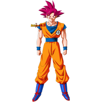 Goku Super Saiyan God by AlexelZ