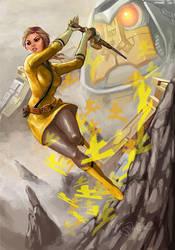 Yellow Power Rangers Samurai by Sopeh