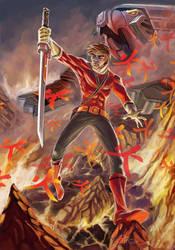 Red Power Rangers Samurai Art by Sopeh