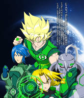 Anime Green Lantern Corps by Tyrranux