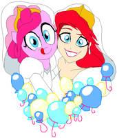 Ariel and Pinkie Pie by Tyrranux