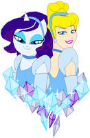 Cinderella and Rarity by Tyrranux