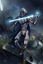 Commission: Battle-droid Jedi by Travis-Anderson