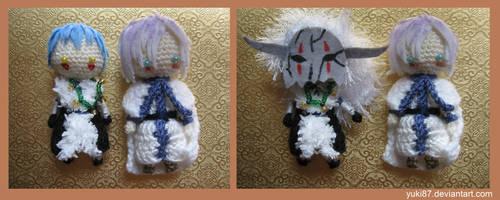 ArtTrade: Shinah and Kija by Yuki87