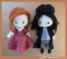 commission: Mini Demelza and Ross from Poldark by Yuki87