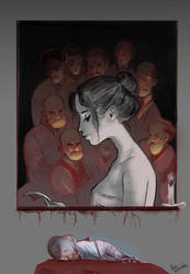Mademoiselle and her people by AmiMercredire