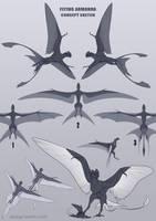 Flying armanda [concept sketch] by AniutqaART