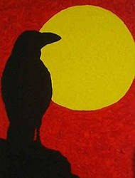 Raven Silhouette by AskGriff