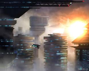 Cyberpunk City by ianllanas