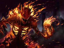 Pyre Demon by ianllanas