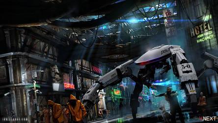 Cyberpunk Police State by ianllanas