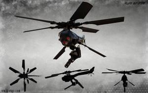 Gun Drone concept art by ianllanas