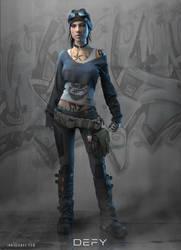 DEFY: Character Concept by ianllanas