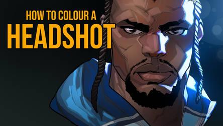 HOW TO COLOUR A HEADSHOT by mohammedAgbadi