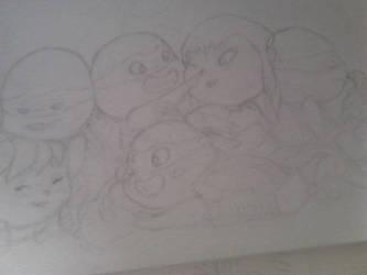 Splinter's babys - sketch by JoAsia9