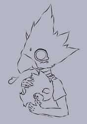 Little bird boy and his shadow :3 by JoAsia9