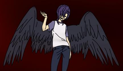 (Rushed) Lucifer Hataraku Drawing by MrSouthBay