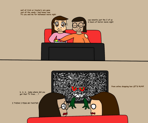 the haunted flat screen TV (AT) by benthecutesquirrel
