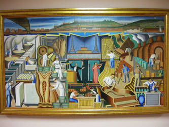 Painting in Union Terminal by Origin21