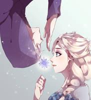 [ROTG] JackFrost x Elsa [Frozen] by lehannaa