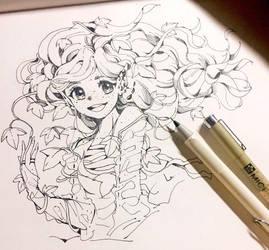 Inktober Day 1 : Ivy by lehannaa