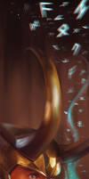 Loki Bookmark by StarshipSorceress