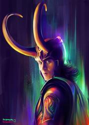 Bifrost Loki by StarshipSorceress
