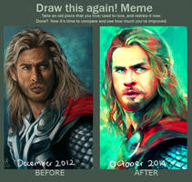Thor: Draw This Again Meme by StarshipSorceress