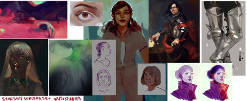 Wips + Studies by StarshipSorceress