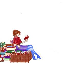 The Librarian by saieki