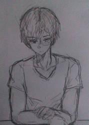 Sketch Todoroki thing by dakynai