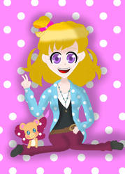 Mirai wearing comfy clothes by AsahiGirl