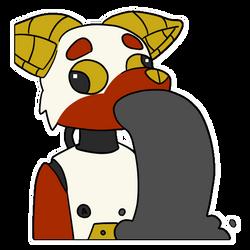 Robot Oilpuke Sticker by Azikira