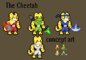 The Cheetah - Game Concept Art by Azikira