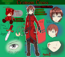 [Creepypasta OC] Crimson Cross [Reference sheet] by JURINGO