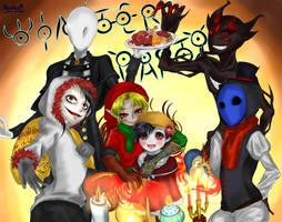 [Creepypasta] New Year Party 2019 [Fan Art] by JURINGO