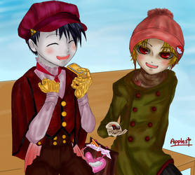 [Creepypasta] Valentine's Day with Him [Fan Art] by JURINGO