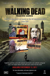 The Walking Dead Trading Cards Promotional Poster by CHaverlandArt