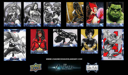 Upper Deck's Avengers sketch card preview by CHaverlandArt
