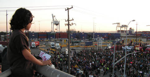 Child's View, Oakland Port Occupation by lost-capella