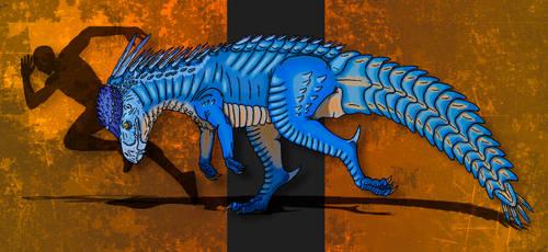 Dinovember Day #7 - Helmeted Goliath by zap123build
