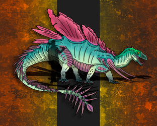 Dinovember Day #9 - Spike-Tailed Goliath by zap123build