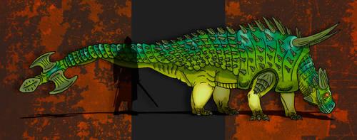 Dinovember Day #11 - Club-Tailed Goliath by zap123build