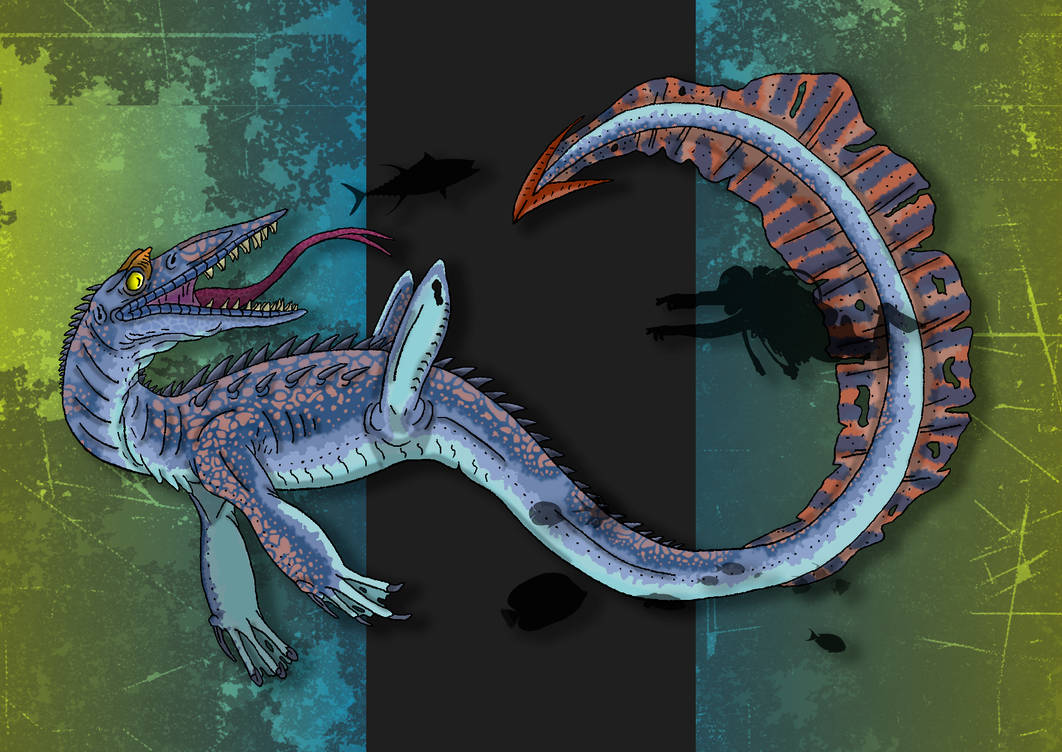 Dinovember Day #15 - Long-Tailed Sea Tyrant by zap123build