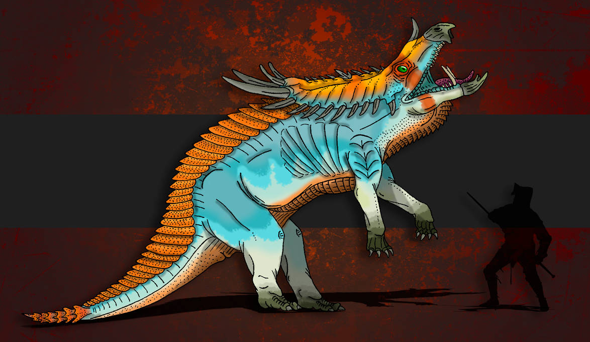 Dinovember Day #13 - Horned Goliath by zap123build