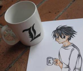 L's Mug by chubby-manatee